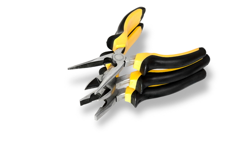 hand tool on white background Stock Photo