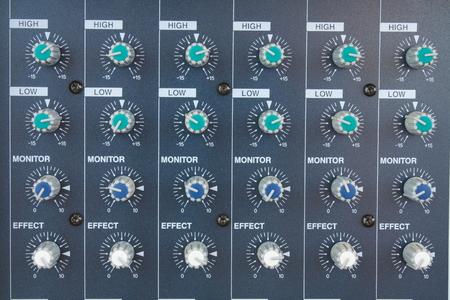 audio mixer. background