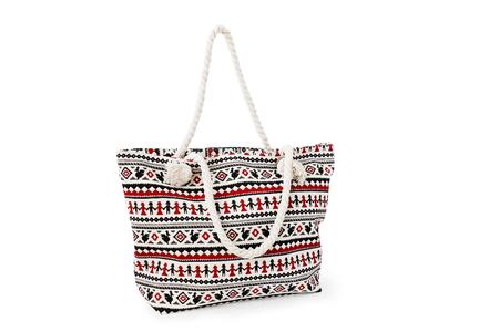 beach bag on white background Stock Photo