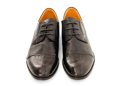 males  shoes on white background