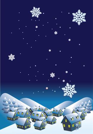 Winter landscape.Vector decorative illustration for graphic design