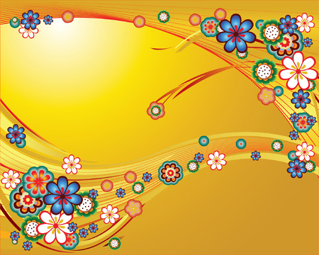 Flowering paradise.Vector decorative illustration for graphic design.