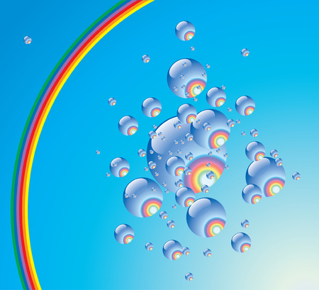 phial: Rainbow phial.Vector decorative illustration for graphic design.