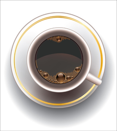 Coffee cup.Vector decorative illustration for graphic design. Фото со стока - 4107051