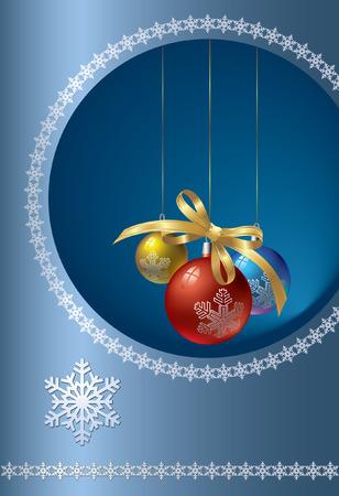 Silver winter.  Vector decorative illustration for graphic design.
