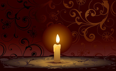flicker: Candle. Vector decorative illustration for graphic design.