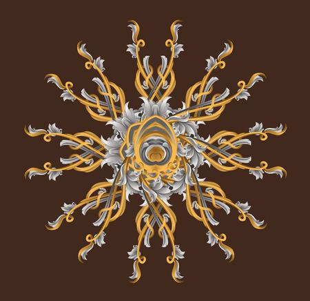 Vector decorative illustration for graphic design. Vector