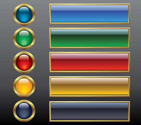 greeen: gold buttons Illustration