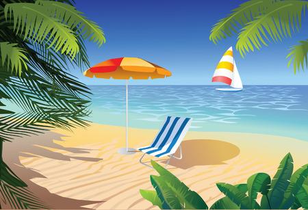 beach in tropic Stock Vector - 5336733