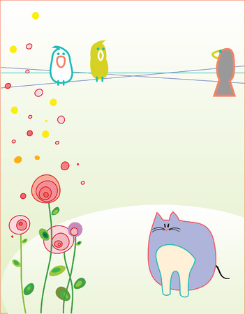 Ilustración para la tarjeta de felicitación. Ilustración de vector