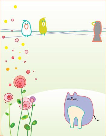 Ilustracja do greeting card. Ilustracje wektorowe