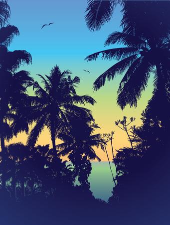 Sunset.  Illustration