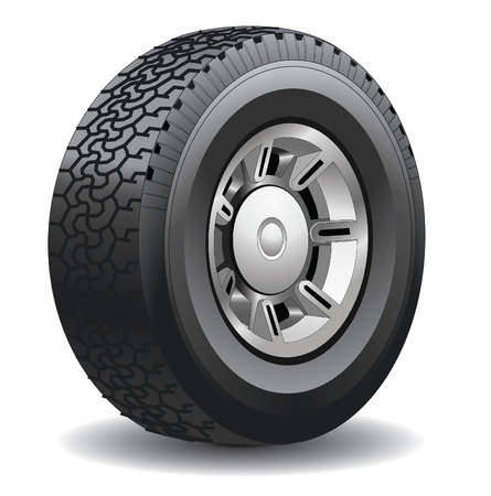 tyres: Wheel. Illustration