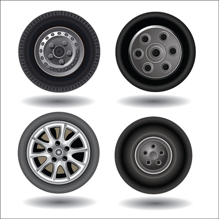 Wheels. Vector