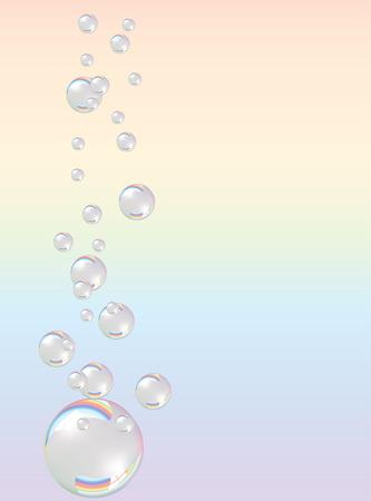Soap bubbles Illustration