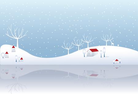 サイレント: 冬  イラスト・ベクター素材