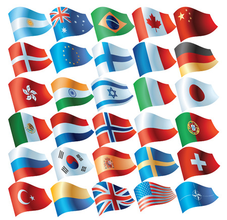 flag buttons Stock Vector - 6580906