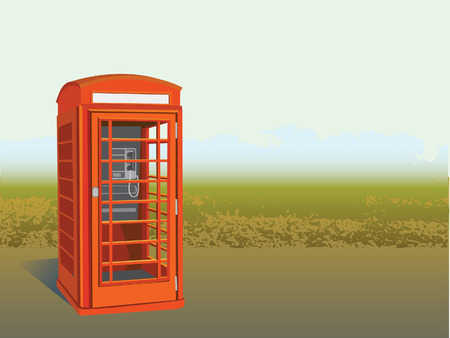 telephone box:     telephone box Illustration