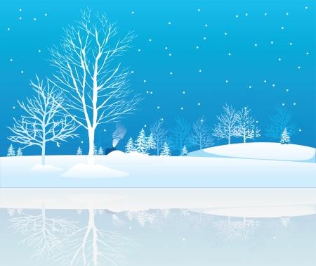 Winter trees. Stock Vector - 6580910