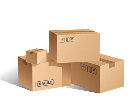 cartons:  Boxes Illustration
