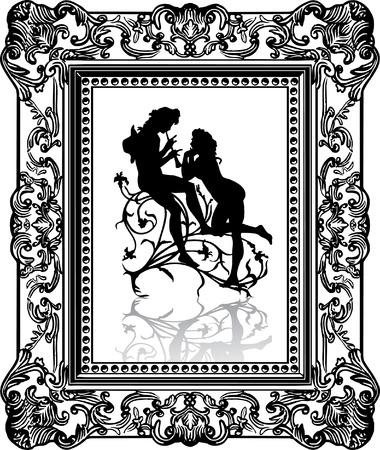 vintage frame Illustration