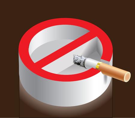 sigaretta: non fumatori Vettoriali