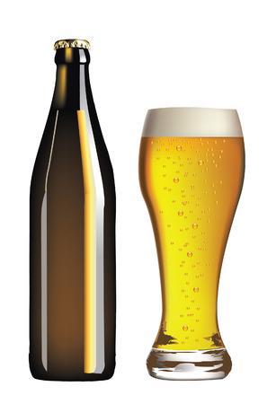 limpid:   beer