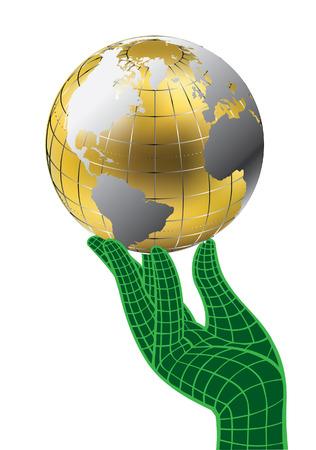 golden globe Stock Vector - 6580916
