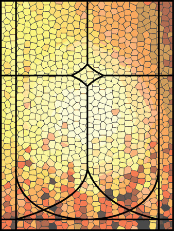 stained glass:     stained glass