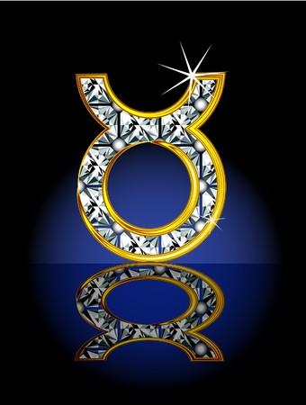 virgo: Signo del zod�aco, representado en forma de joyer�a.  Vectores
