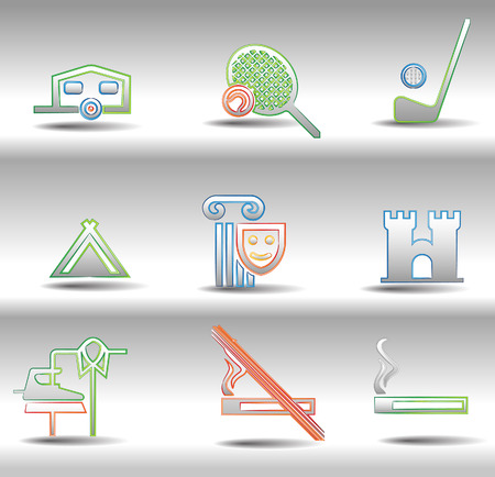 Rest and entertainments icons Stock Vector - 8672952