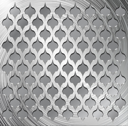embossed: Metal decorative grid Illustration
