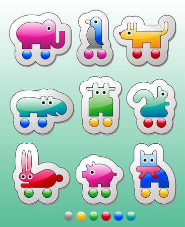Children's stickers Stock Vector - 8672845