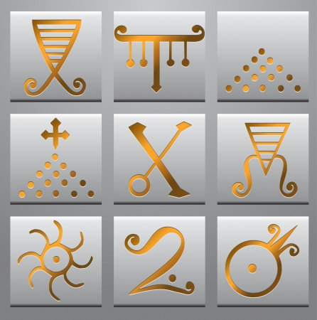 encode: Alchemy symbols  Illustration