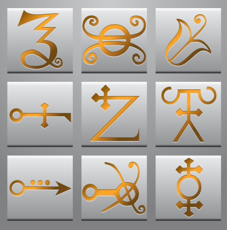 alchemical: Alchemy symbols  Illustration
