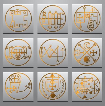 cryptic: Black and white magic symbols