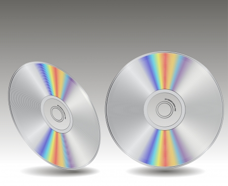 blueray: Blue-ray, DVD or CD disc  Illustration