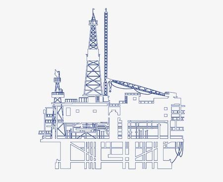 oil platform Иллюстрация