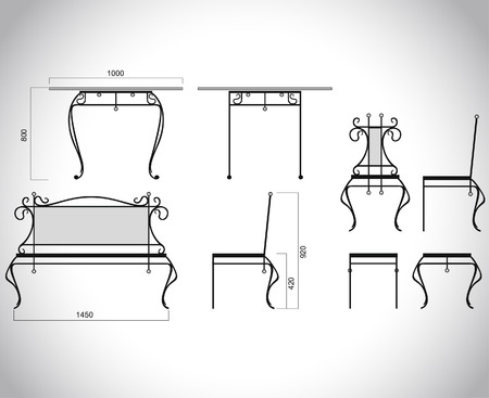 furnish: The forged products Illustration