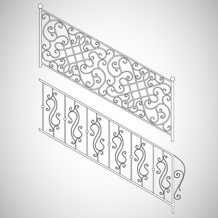 iron gate: The forged products Illustration