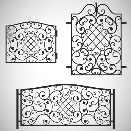 metal lattice: The forged products Illustration