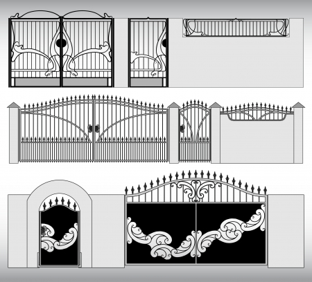 metal gate: The forged products Illustration