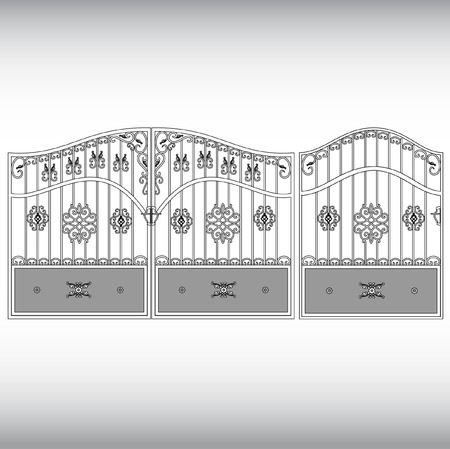 iron fence: The forged products Illustration