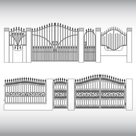 puertas de hierro: Los productos falsificados Vectores