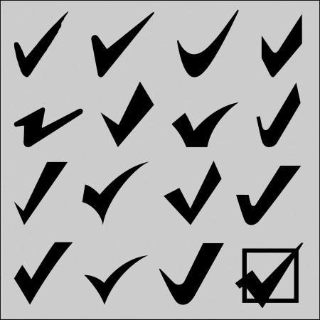 tick: Compruebe signo y marque set signo