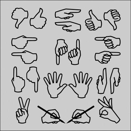 praying hands: Hand gestures Illustration