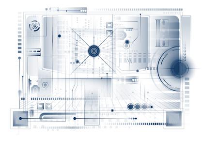 codigo binario: Ilustración abstracto de la tecnología. Vectores