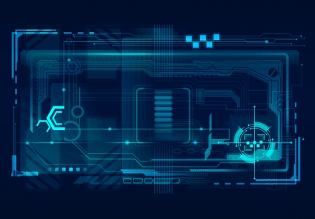 Abstract tech illustration. Vector