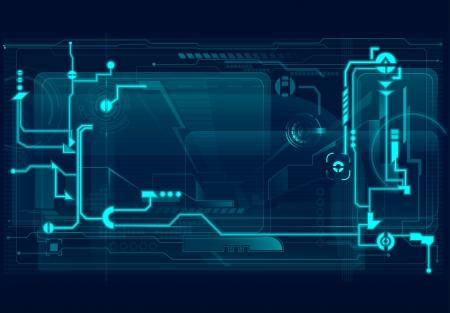 Ilustración abstracto de la tecnología. Ilustración de vector