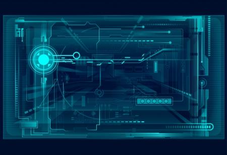 digital code: Abstract tech illustration.